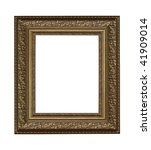 old frame on a white background - stock photo