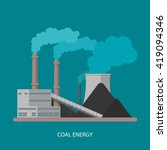 coal power plant and factory....   Shutterstock .eps vector #419094346