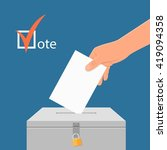 election day concept vector...   Shutterstock .eps vector #419094358