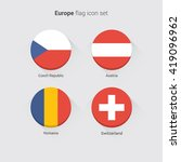 european countries flat flags... | Shutterstock .eps vector #419096962