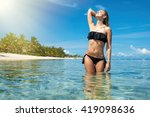young and pretty girl model in...   Shutterstock . vector #419098636