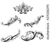 illustration of set of vintage... | Shutterstock .eps vector #419106295