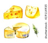 Watercolor Milk Cheese Set