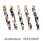 office culture team over white  | Shutterstock . vector #419121865