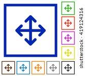set of color square framed move ...