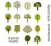 graphics of different species... | Shutterstock .eps vector #419131456