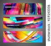 set of colorful flyer  brochure ... | Shutterstock .eps vector #419143336