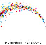 white paper background with arc ... | Shutterstock .eps vector #419157046