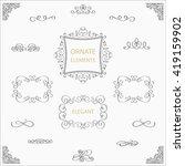 calligraphic design elements... | Shutterstock .eps vector #419159902