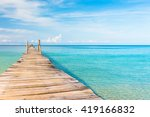 contemplating the sea calm... | Shutterstock . vector #419166832