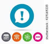 wifi  sms and calendar icons....   Shutterstock .eps vector #419169235