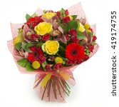 colorful bouquet of various... | Shutterstock . vector #419174755