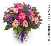 colorful bouquet of various... | Shutterstock . vector #419174782
