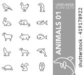 Thin Line Icon Sets Animal
