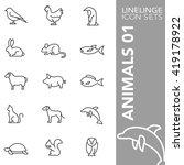 Linelinge Animal And Ocean Lif...