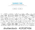 icons set for summer holiday... | Shutterstock .eps vector #419187436