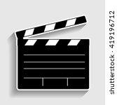 film clap board cinema sign | Shutterstock . vector #419196712