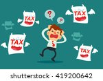businessman get upset and... | Shutterstock .eps vector #419200642
