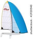 Sailboat. 49er Dinghy