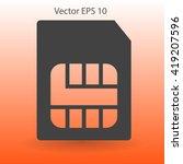 sim card mobile operator vector ... | Shutterstock .eps vector #419207596
