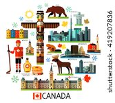 vector set of various canada... | Shutterstock .eps vector #419207836