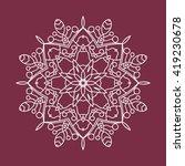 beautiful circular ornament.... | Shutterstock .eps vector #419230678