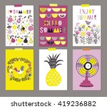 vector set of beautiful summer... | Shutterstock .eps vector #419236882