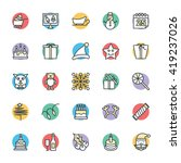 christmas cool vector icons 4 | Shutterstock .eps vector #419237026