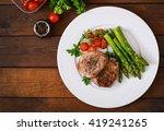 barbecue grilled beef steak... | Shutterstock . vector #419241265