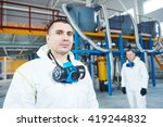 chemical industry workers at... | Shutterstock . vector #419244832