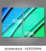 vector brochure template design ... | Shutterstock .eps vector #419253946