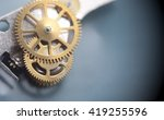 clock mechanism macro shot with ... | Shutterstock . vector #419255596