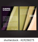 vector brochure template design ... | Shutterstock .eps vector #419258275