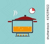 food preparation instructions... | Shutterstock .eps vector #419259022