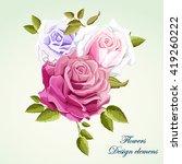Bouquet Of Roses. Design...