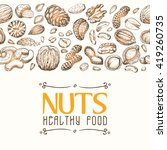 vector background with nuts... | Shutterstock .eps vector #419260735