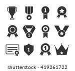 medals and cup icons. vector... | Shutterstock .eps vector #419261722