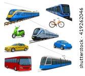 city transport set | Shutterstock .eps vector #419262046