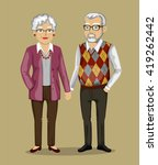 old people in business suits. ... | Shutterstock .eps vector #419262442