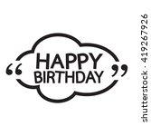 happy birthday illustration... | Shutterstock .eps vector #419267926