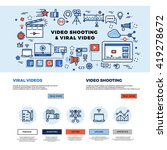 viral video marketing  movie... | Shutterstock .eps vector #419278672