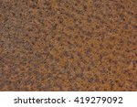 Small photo of rusty sheet metal, aliasing