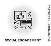 social engagement icon vector.... | Shutterstock .eps vector #419281522