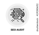seo audit icon vector. flat... | Shutterstock .eps vector #419283652