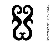 tribal tattoo vector designs... | Shutterstock .eps vector #419289682