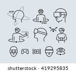 virtual reality vector icons  | Shutterstock .eps vector #419295835