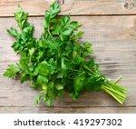 fresh parsley | Shutterstock . vector #419297302