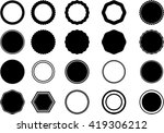 round label banner collection.... | Shutterstock .eps vector #419306212