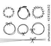 set of   hand drawn wreaths.... | Shutterstock .eps vector #419310652