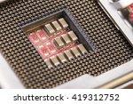 closeup electronic circuit... | Shutterstock . vector #419312752